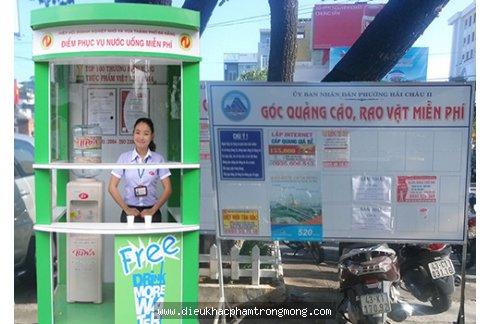 Đà Nẵng lắp đặt quầy nước miễn phí trên phố