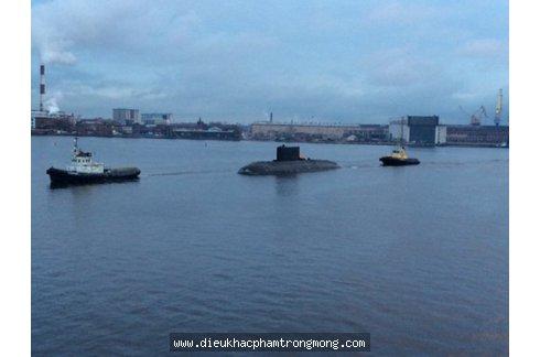 Tàu ngầm Đà Nẵng rời Nga tới Việt Nam